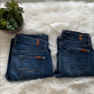 7 For All Mankind Jean Bundle size 26